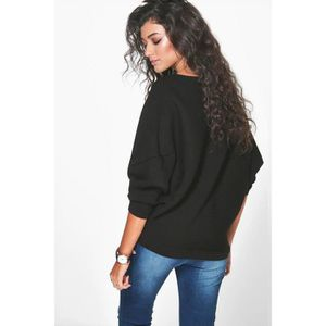21b89602d8dfb PULL Femmes Encolure Chunky Tricoté Pull oversize Baggy