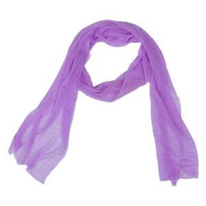 ECHARPE - FOULARD Echarpe Etole Multicolore Style Mode pour Femmes L.  Couleur violet ... 5bf8ac32dc6