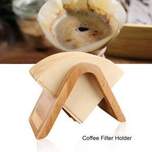 FILTRE Â CAFÉ JETABLE Support en bois de bambou Pour Filtres à Café Prés