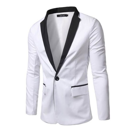 Un Costume Casual Homme Slim Épissure Fashion Bouton Blazer Fit Veste xgwTq8