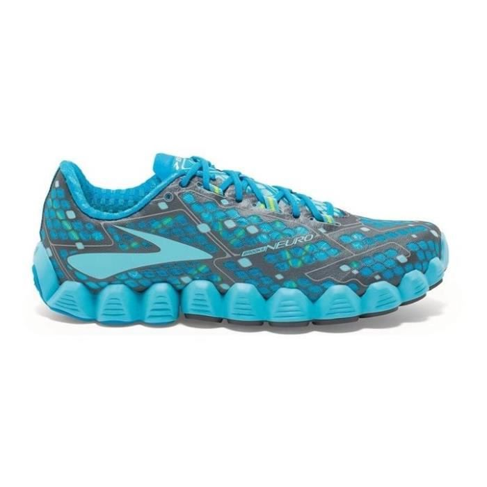 Chaussures de running Bleu, matière extérieure en synthétique, semelle intérieur en caoutchouc, serrage par lacets.CHAUSSURES DE RUNNING - CHAUSSURES D'ATHLETISME