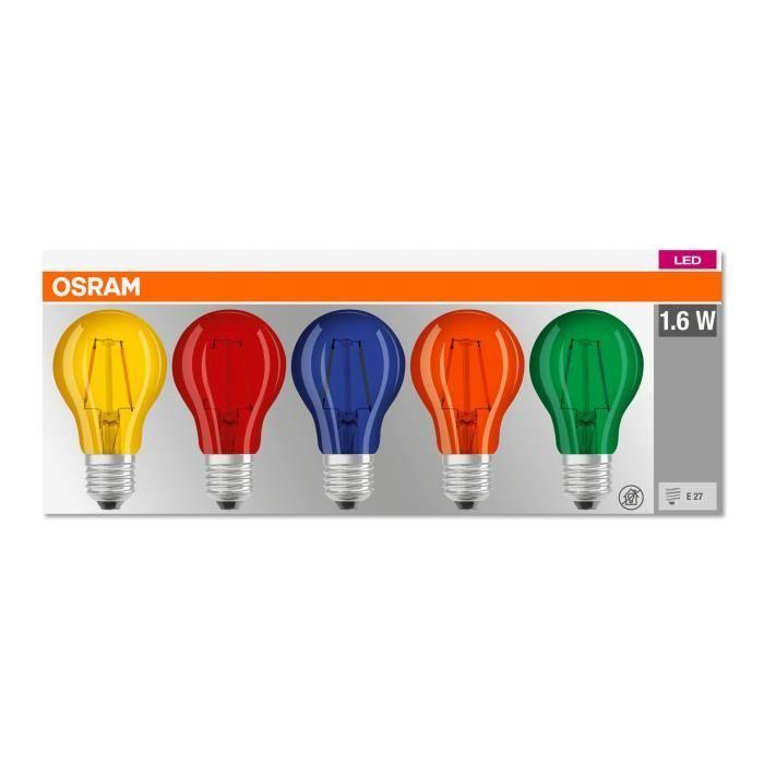 OSRAM Lot de 5 Ampoules standard déco Guinguette LED E27