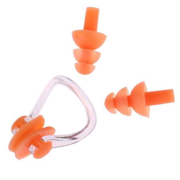Étanche en silicone souple piscine Set pince-nez + oreille plug Outil utile ou WDD60627281OR_1904
