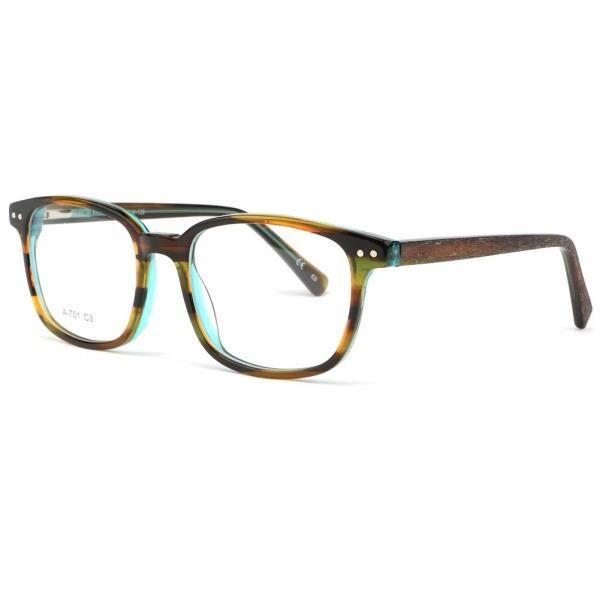 35c9d5e2bf7 LUNETTES DE SOLEIL Monture lunette enfant bleu et marron 7 à 12 ans B