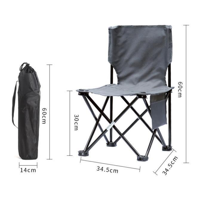 Solide Extérieur Chaise Pour Plage Barbecue Pliante Transport Et Camping Jardin Gris Randonnée De Fauteuil Sac Légère Avec Pêche vbgYf67y