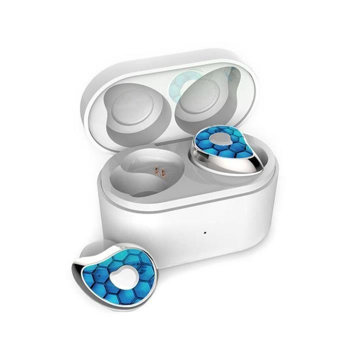 Efuture Casque Bluetooth Sans Fil Se6 Argent Et Bleu