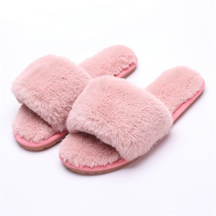 Pantoufles pour Femmes Pantoufles Mode Chaud et Confortable Chaussures pour la Maison Plus Cachemire Chaussures Doux 35-40 DJ2XHdYL
