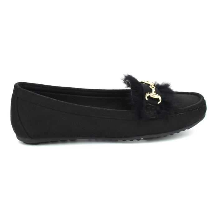 Birdie-01 Casual Driving Moccasin Loafers Fashion Suede Dress Shoes Flats EUJAH Taille-38