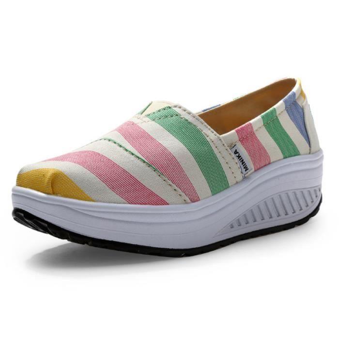Chaussures Femme Printemps Été à fond épaiséChaussure BSMG-XZ064Rose37