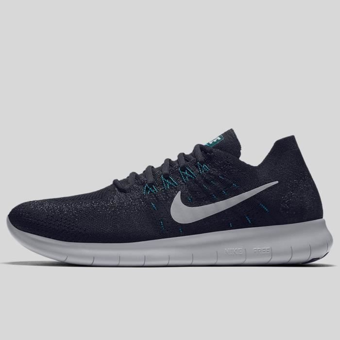 Femmes Nike Free RN Flyknit 2017 Chaussures Athlétiques Noir