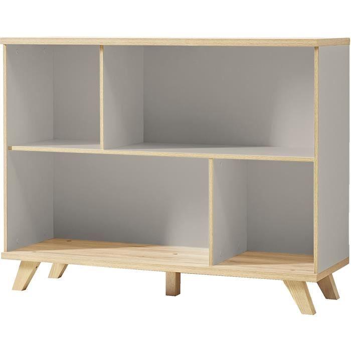 50 x 40 cm meuble tagre tagre coloris gris pierre chne