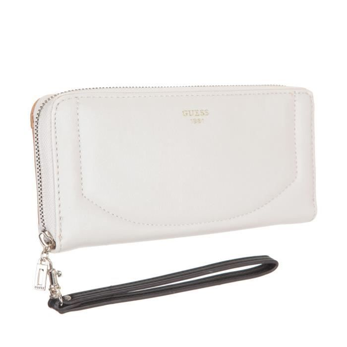 Guess Portefeuille Kingsley Blanc Femme Achat Vente Guess