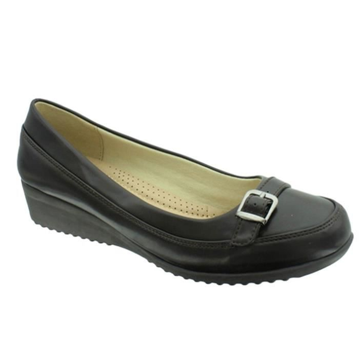 Relax-8 Vegan Leather Slip-on Loafer With Decorative Buckle JZNDE Taille-41