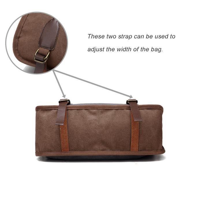 fourre-tout en toile sac à bandoulière sacs à main vintage sac bandoulière T1WQ1