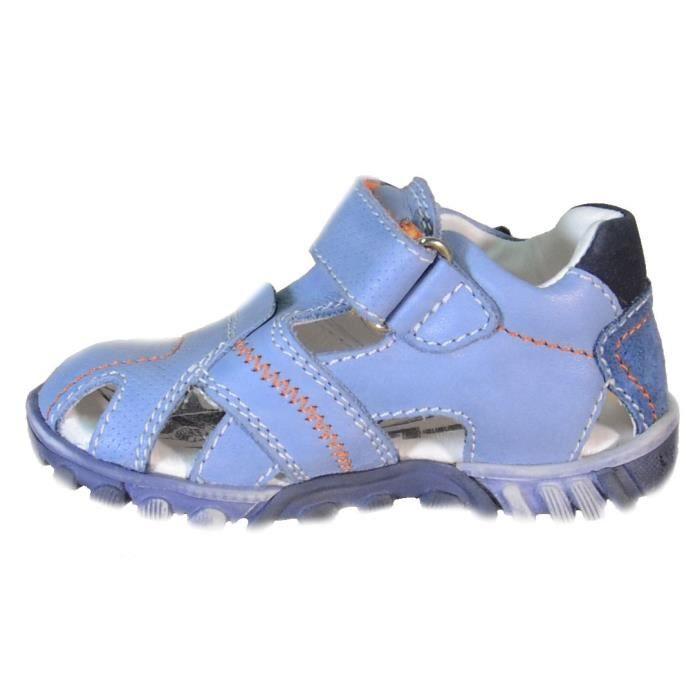 Primigi Sandales pour Garçon Bleu Claire Cuir Velcro 81233 jSxJcZPmn
