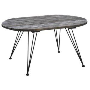 table basse bois vieilli achat vente table basse bois vieilli pas cher soldes d s le 10. Black Bedroom Furniture Sets. Home Design Ideas