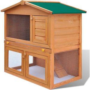 CLAPIER Cage Clapier Enclos lapin Extérieur en bois 93 x 6
