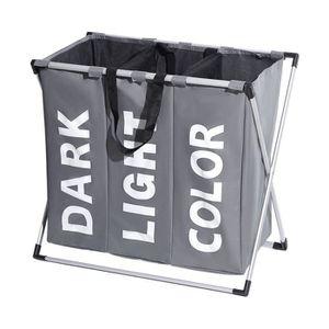 panier a linge 2 compartiments achat vente pas cher. Black Bedroom Furniture Sets. Home Design Ideas