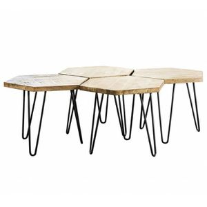 TABLE BASSE Table Basse Hexagone Marque Hinsk Modulable Consol