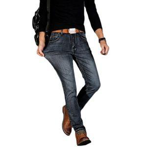 613566030f8e JEANS Jeans homme de Marque luxe Élasticité sauvage casu