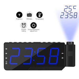 Radio réveil Réveil numérique Horloge de projection avec radio