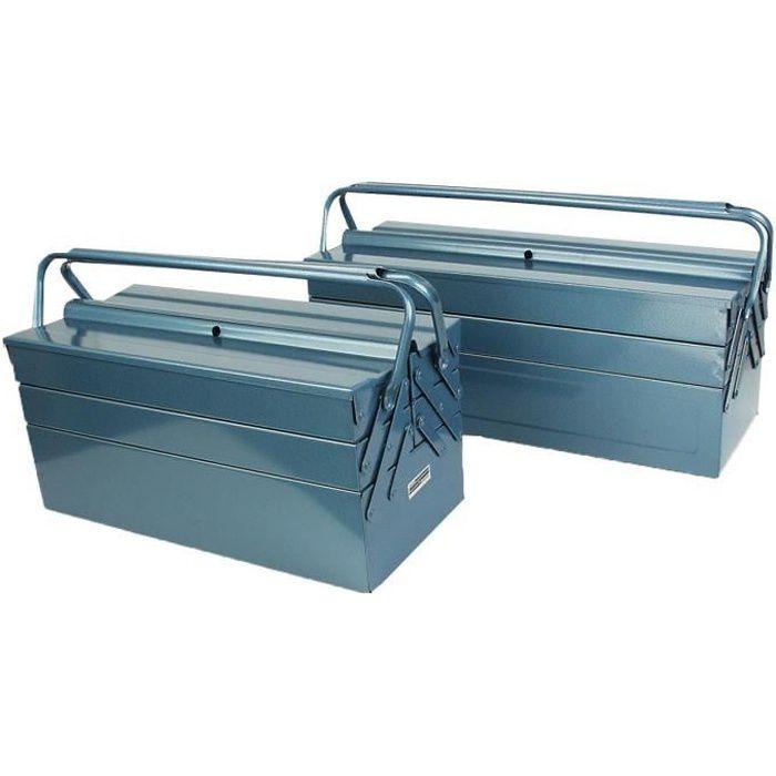 MANNESMANN Caisse à outils vide - 5 compartiments - 530 x 200 x 200 mm
