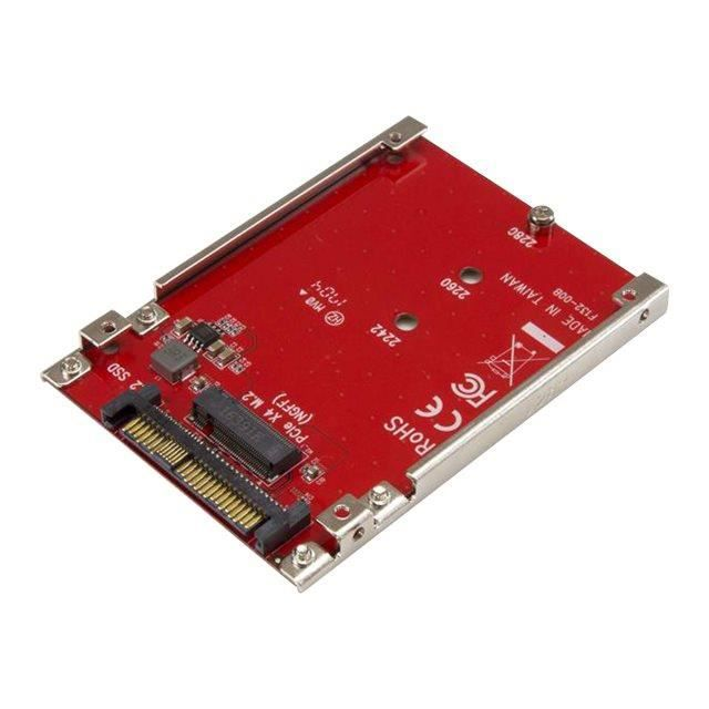StarTech.com M.2 Drive to U.2 (SFF-8639) Host Adapter for M.2 PCIe NVMe SSDs Adaptateur d'interface M.2 M.2 Card U.2 rouge