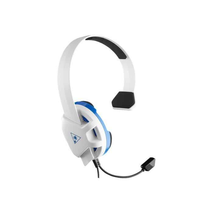 TURTLE BEACH Casque Gamer Recon Chat TBS-3346-02 - Blanc - Compatible PS4/Xbox/Switch/PC/Mobile)