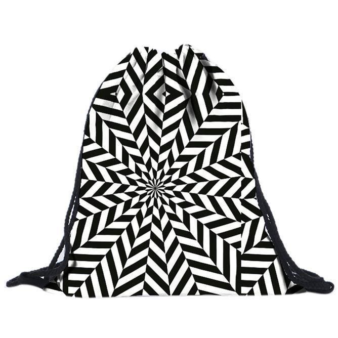 Dos Backpack Cqq09 Impression Drawstring Sacs Unisexe 3d Emoji À B4CqC