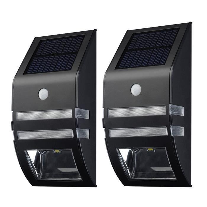 Lampe Solaire Murale LED]2 Pack Eclairage Solaires d\'Exterieur ...