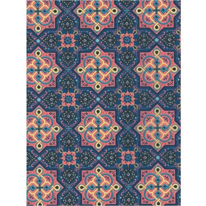 Kit papier créatif Feuille Decopatch n°705, motif Oriental Bleu nuit,