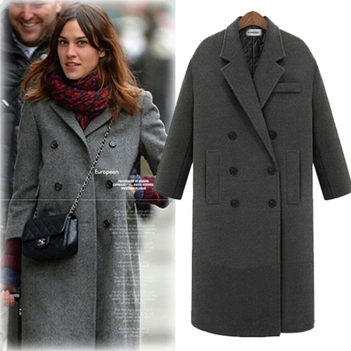 Manteau redingote femme en cachemire