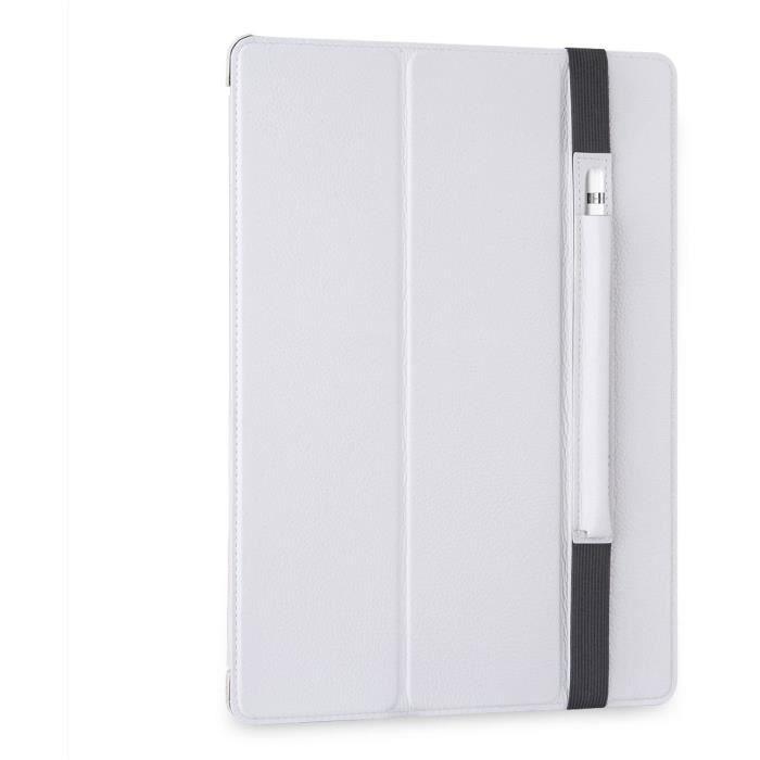 stilgut couverture et porte pencil ipad pro 12 9 en cuir blanc prix pas cher cdiscount. Black Bedroom Furniture Sets. Home Design Ideas
