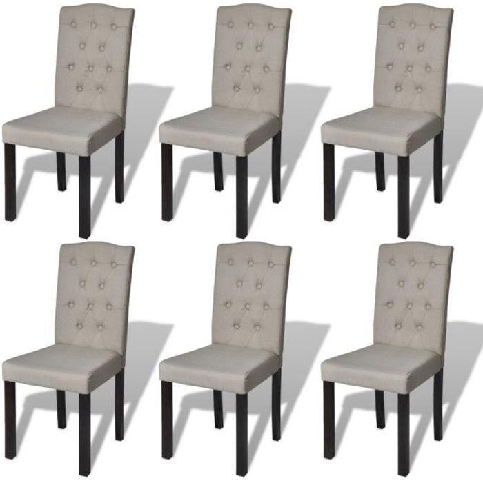 lot de 6 chaises de salle manger salon gris achat vente chaise gris cdiscount. Black Bedroom Furniture Sets. Home Design Ideas