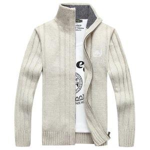 e7ac64b2b6908a GILET - CARDIGAN Gilet Zippé Homme Col Montant Casual Sweater Épais ...