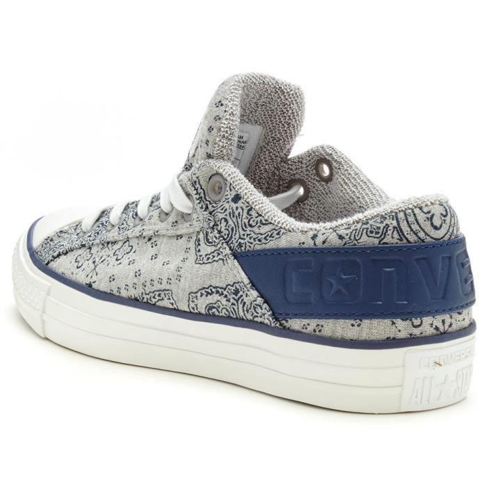 Chaussures Converse Chuck Taylor Band OX Print Formateurs en Blanc & Bleu 148660C [UK 11EU 45] 1schwol