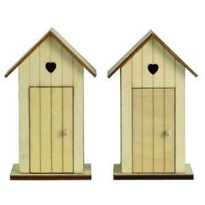 artemio 2 cabines de plage en bois d corer 14 cm achat. Black Bedroom Furniture Sets. Home Design Ideas