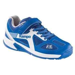 KEMPA Chaussures de Handball Fly High Wing Junior Bleu roi et blanc