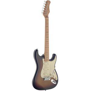 STAGG SES50M-SB Guitare Electrique Vintage - Dégradé Brun