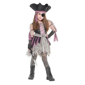 DÉGUISEMENT - PANOPLIE AMSCAN Haunted Pirate - Costume Fille - Robe, chap