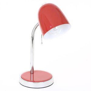 lampe de bureau rouge achat vente lampe de bureau rouge pas cher cdiscount. Black Bedroom Furniture Sets. Home Design Ideas