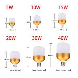 AMPOULE - LED Trois ampoules LED anti-E27 en aluminium or 40W-31