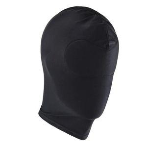 f7383885e551c5 MASQUE - DÉCOR VISAGE Masque Visage unisexe noir - Deguisement Visage tê ...