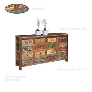 COMMODE DE CHAMBRE Grande Commode Vintage 16 tiroirs, Armoire Commode