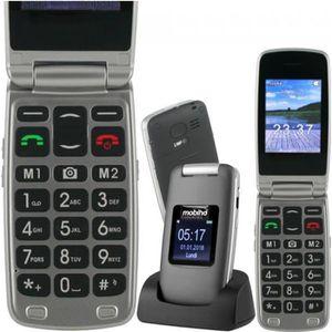 Téléphone portable LE CLAP LUXE 3 noir, téléphone clapet complet pour