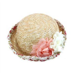98840558aea3 CHAPEAU - BOB Fille large Brim Chapeau de paille Crocheté Sun Be ...