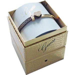 BRACELET - GOURMETTE GUESS Bracelet Cuir orné de Cristaux Blancs Femme