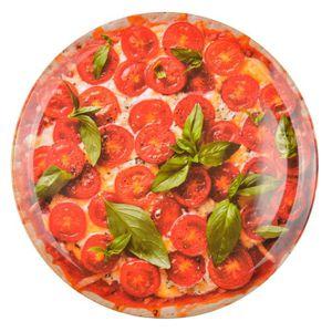 PLAT DE SERVICE Plat à Pizza Mélamine Motifs,Rouge