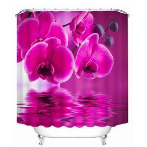 RIDEAU DE DOUCHE Rideau de douche Orchidées carmins belles 3D effec