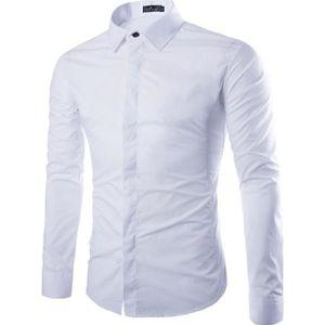 CHEMISE - CHEMISETTE chemise homme slim fit chemise blanche à manches l 1e51179cdd54